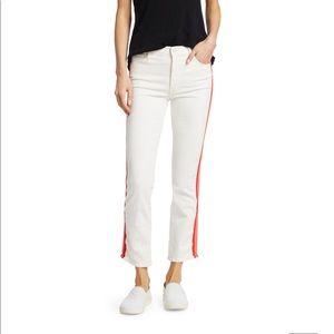 MOTHER Dazzler Crop Racing Stripe Jeans